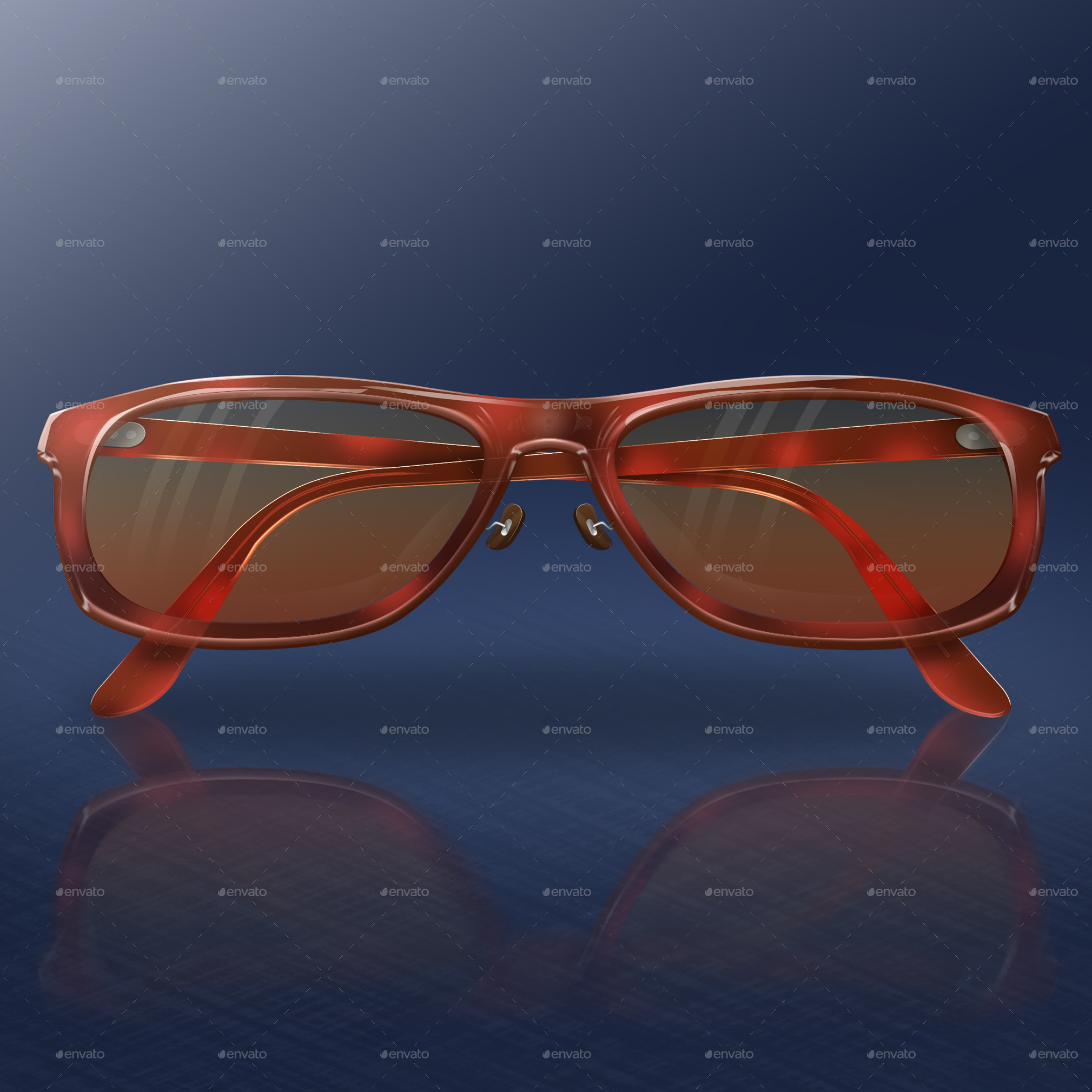 Red Tortoise Glasses