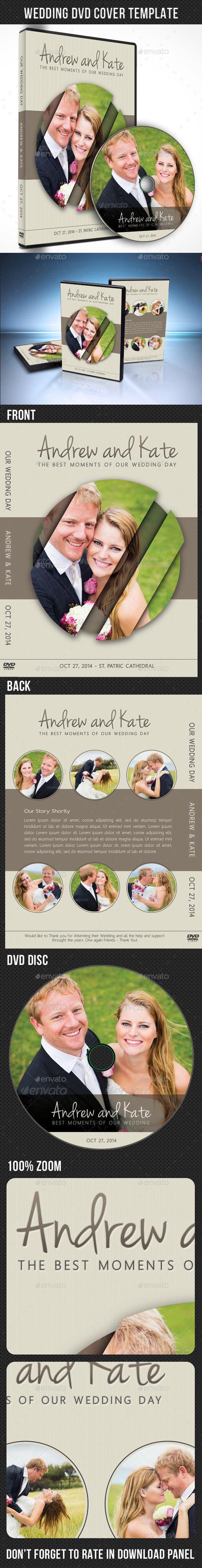Wedding DVD Cover Template 07 - CD & DVD Artwork Print Templates