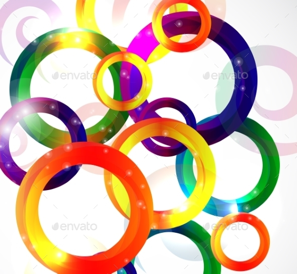 Abstract Bright Background Vector Illustration - Backgrounds Decorative