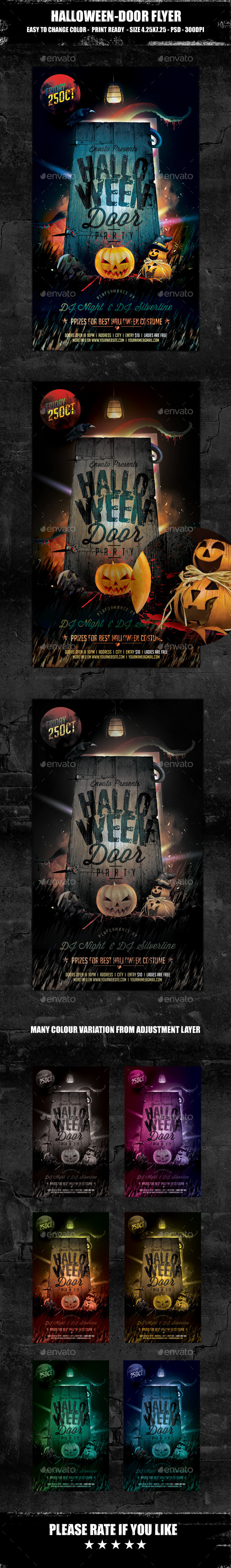 Halloween Door Party Flyer - Clubs & Parties Events