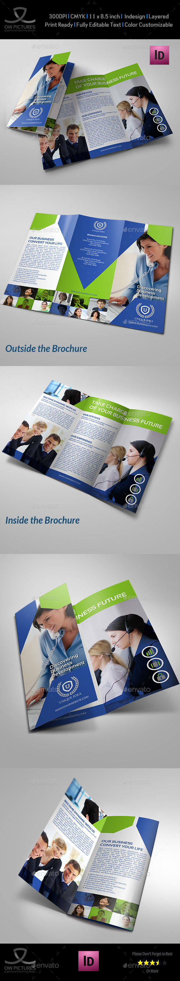 Company Brochure Tri-Fold Template Vol.15 - Corporate Brochures