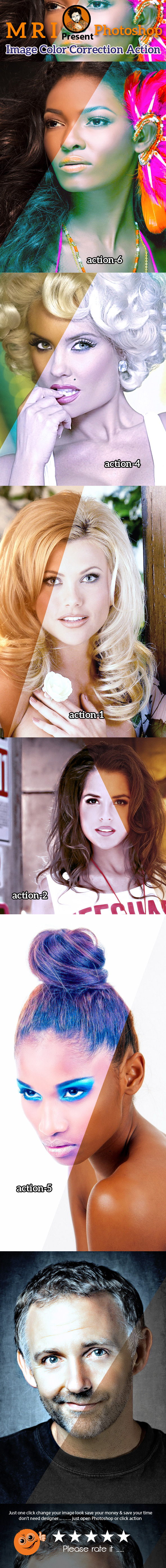 Image Color Correction - Actions Photoshop