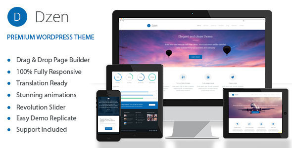 Dzen – Multipurpose Business Parallax WP Theme
