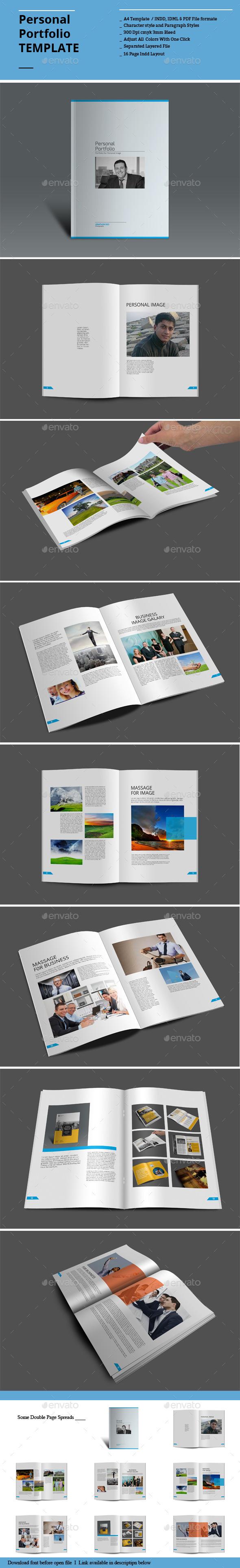 Personal Portfolio Templates - Portfolio Brochures