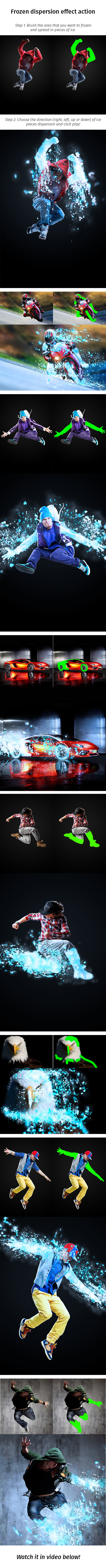 Frozen Dispersion Effect Action - Photo Effects Actions
