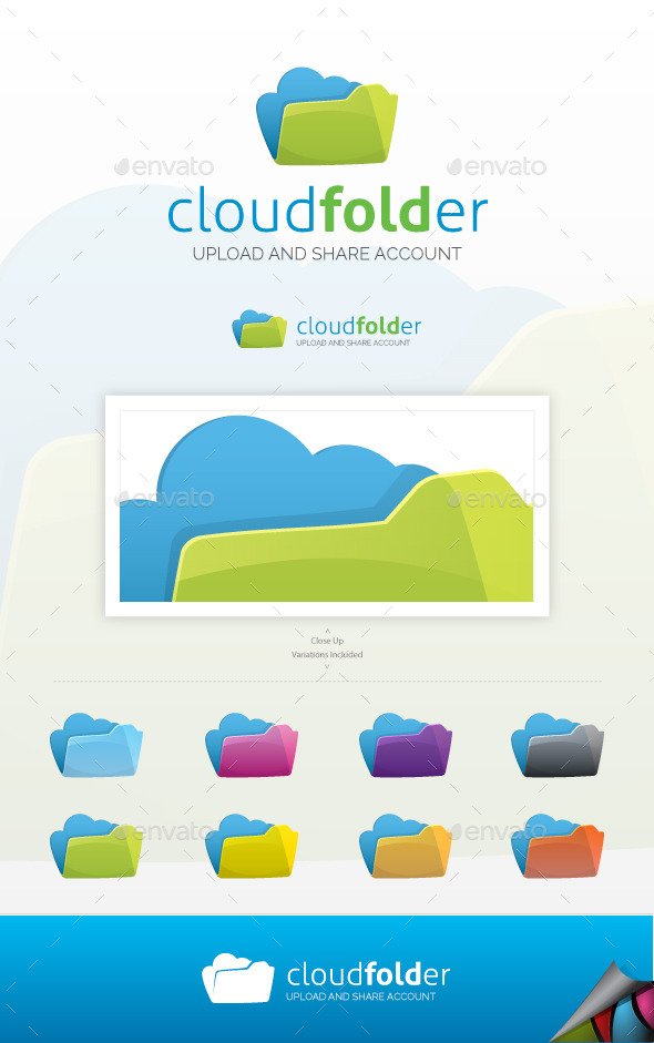 Cloud Folder Logo - Objects Logo Templates