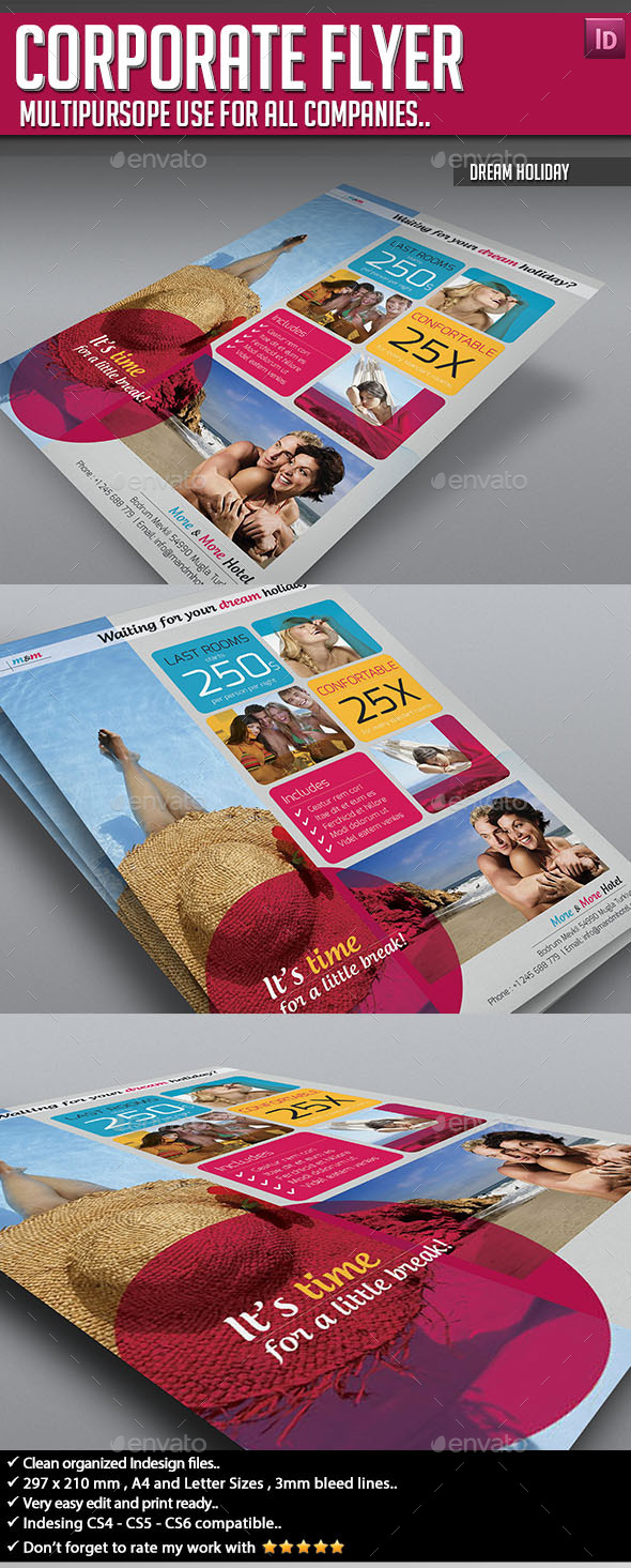 Corporate Flyer - Dream Holiday - Corporate Flyers