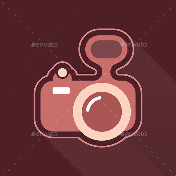 Camera Vector Icon - Man-made Objects Objects