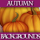 Set of Autumn Backgrounds Cards with Pumpkins  - GraphicRiver Item for Sale