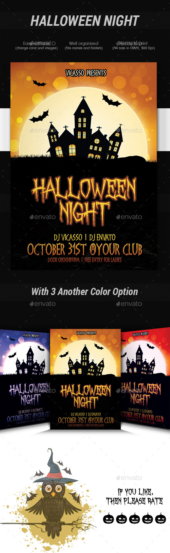 Halloween Night - Events Flyers