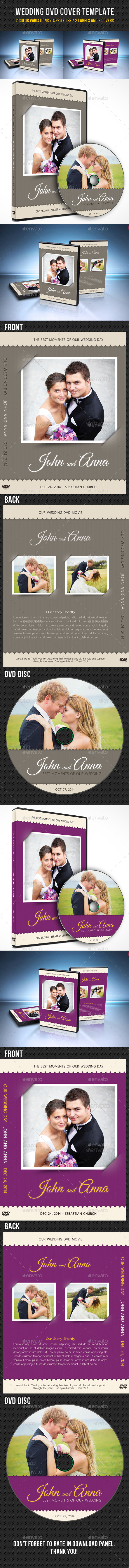 Wedding DVD Cover Template 08 - CD & DVD Artwork Print Templates