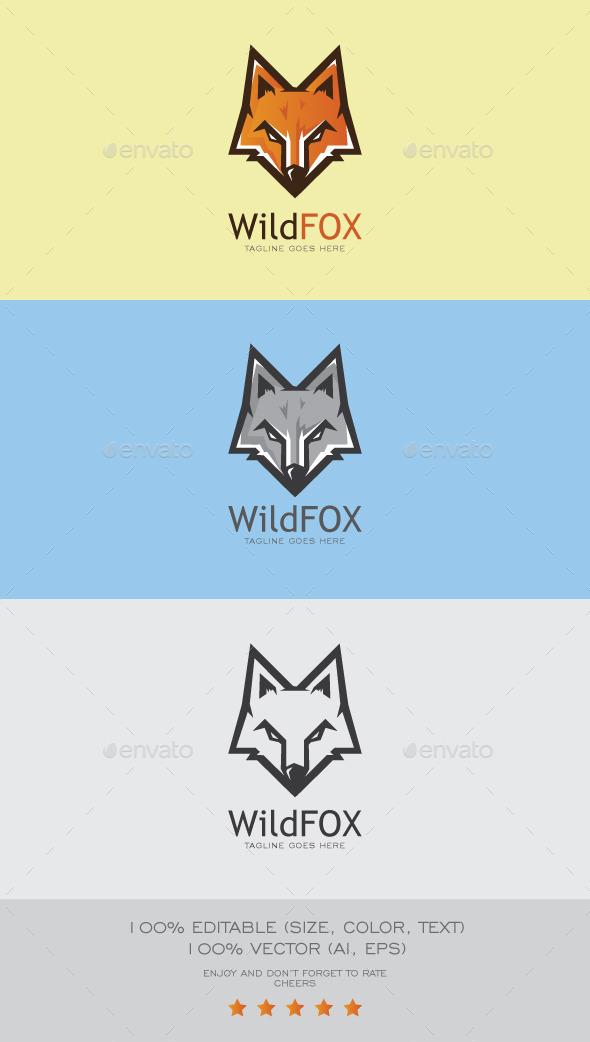 Wild Fox Logo Mascot - Animals Logo Templates