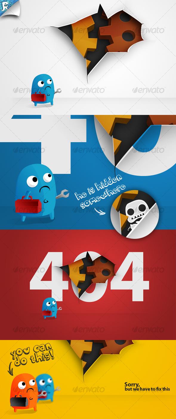 Under Construction & 404 Hole - Miscellaneous Web Elements