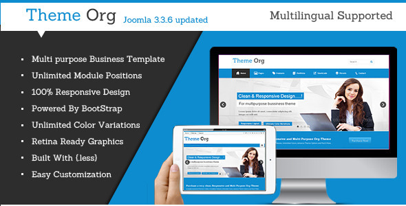 Theme-Org – Responsive Multi-Purpose Joomla Theme
