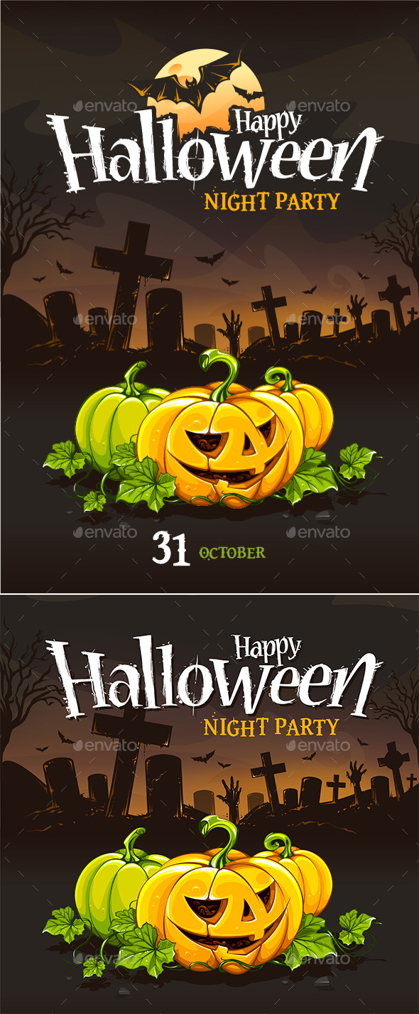 Halloween Poster Templates - Halloween Seasons/Holidays