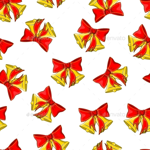 Christmas Bells Vector Seamless Pattern - Christmas Seasons/Holidays