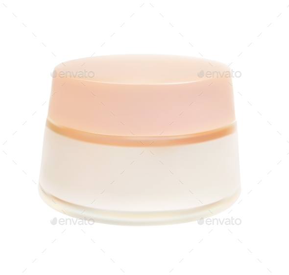 Face Cream Isolated on White Background Vector Ill - Objects Vectors