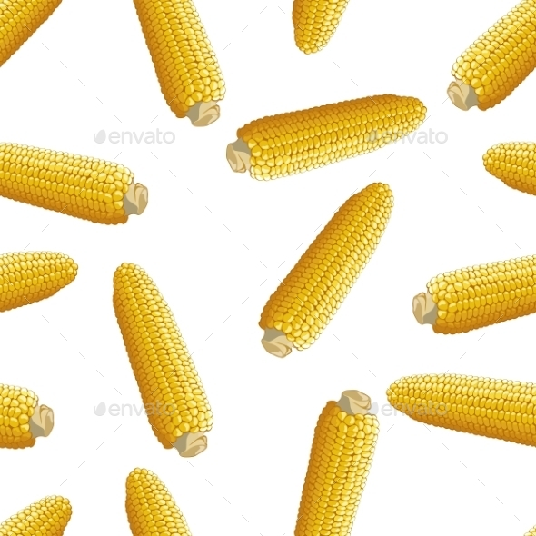 Corn Vector Seamless Pattern - Patterns Decorative