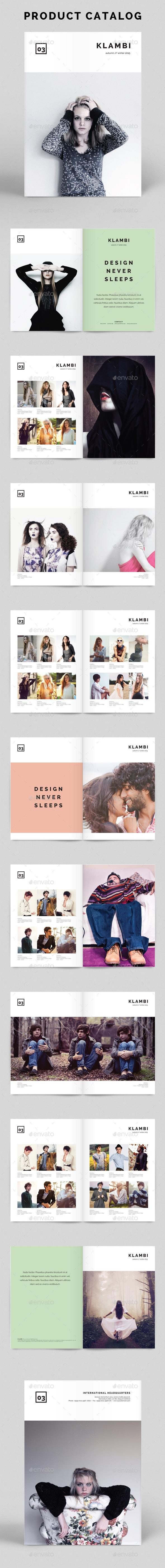 Product Catalog Klambi Template - Catalogs Brochures