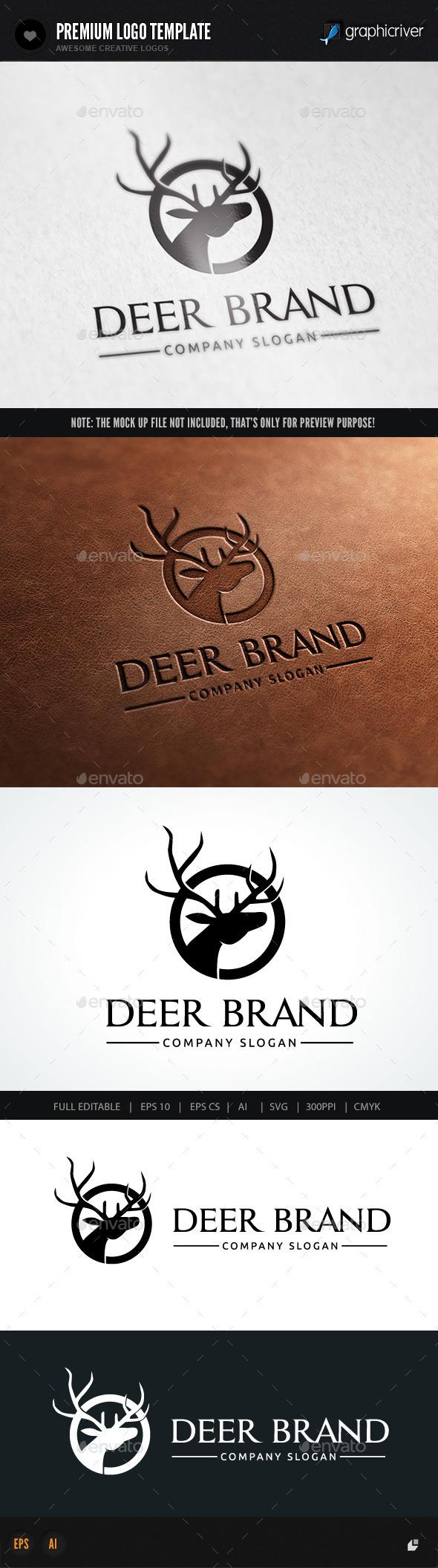 Deer Brand - Crests Logo Templates