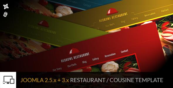 RedBowl Restaurant – Responsive Joomla Template