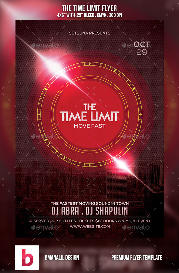 The Time Limit Flyer - Clubs & Parties Events