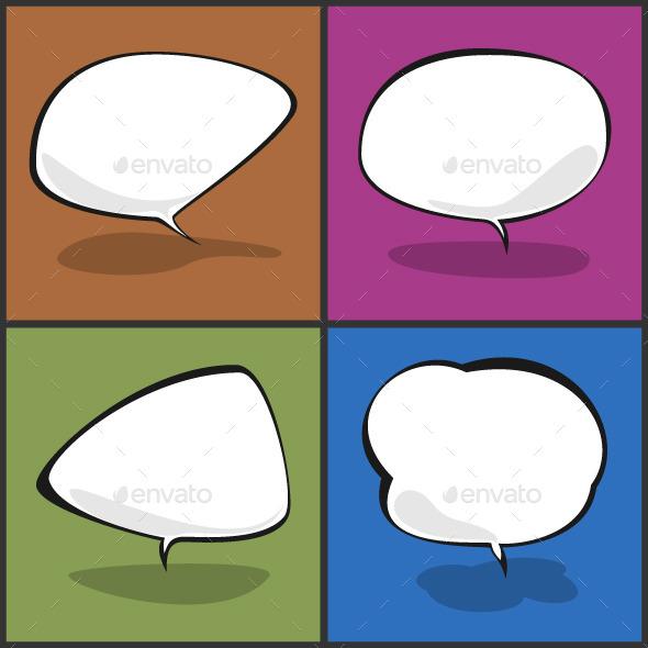 Set of Speech Bubbles Vector Illustration - Vectors
