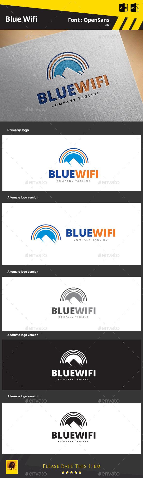 Blue Wifi - Symbols Logo Templates