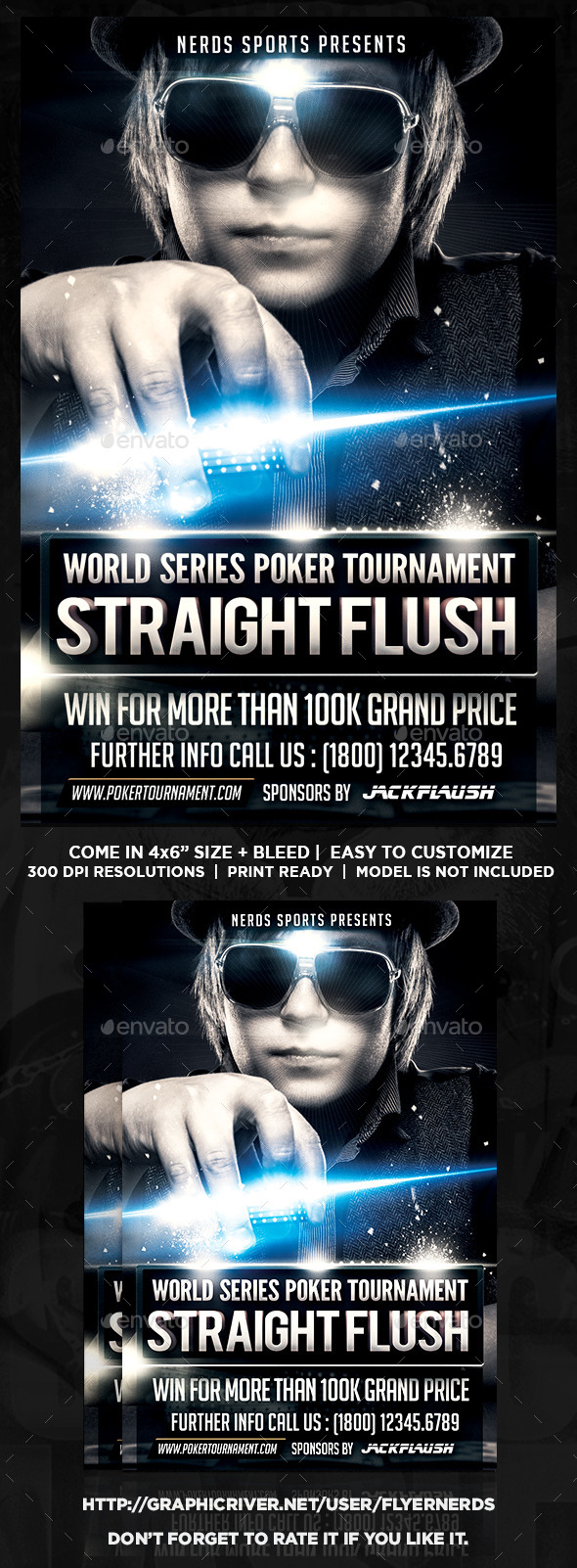 Poker Tournament Flyer - Sports Events