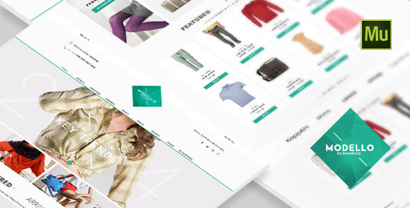 Modello - eCommerce Muse Template  - eCommerce Muse Templates