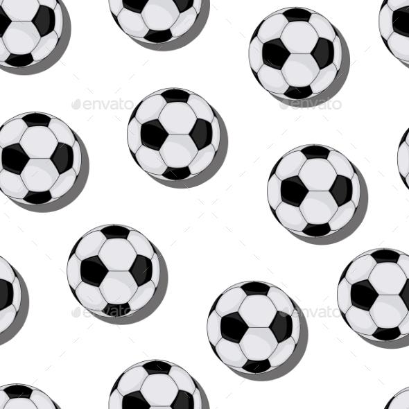 Football Vector Seamless Pattern - Patterns Decorative