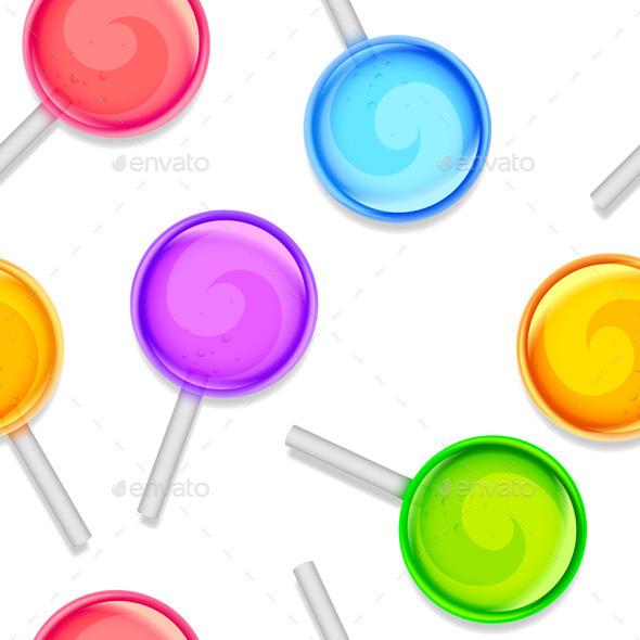 Color Lollipops Pattern - Food Objects