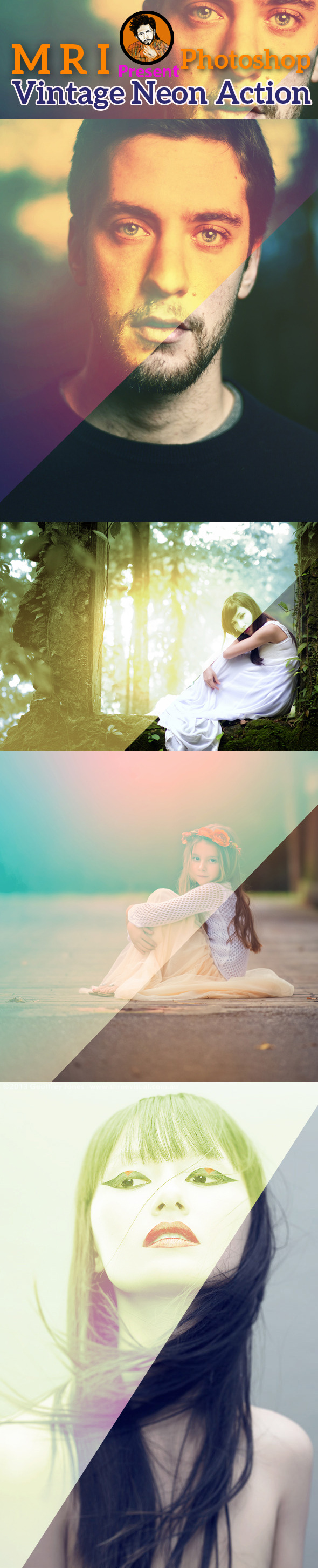Vintage Light Leaks Action - Actions Photoshop