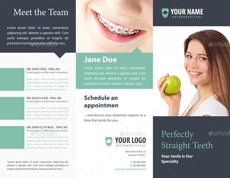 Orthodontist Dental Trifold Brochure By Mariokulash