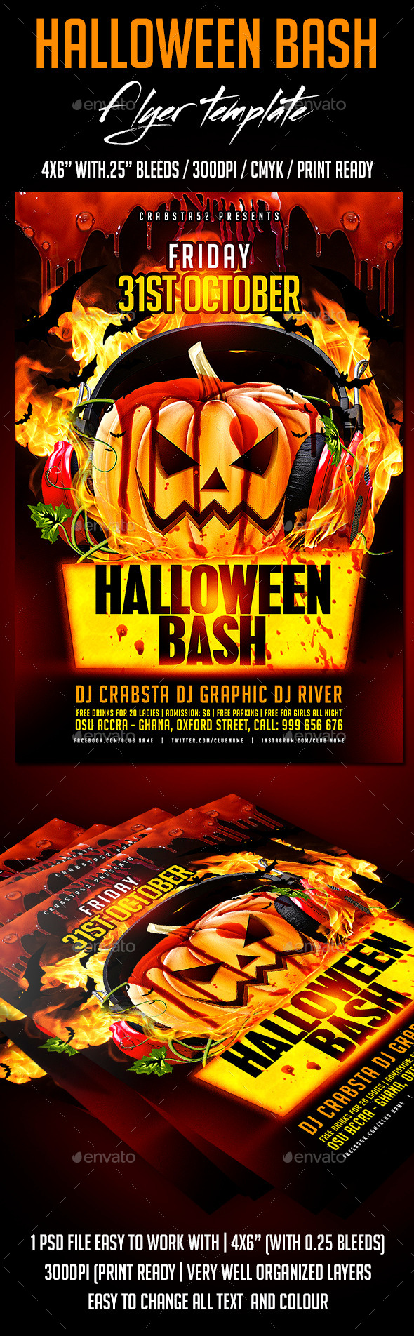 Halloween Bash Flyer Template - Flyers Print Templates