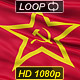 Realistic 3D detailed Soviet Union flag - VideoHive Item for Sale