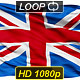 Isolated Waving National Flag of Great Britain(English) - VideoHive Item for Sale