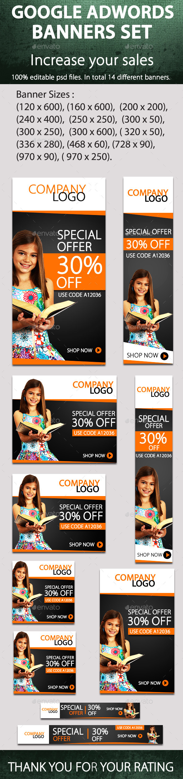 Promotional Banners - Banners & Ads Web Elements