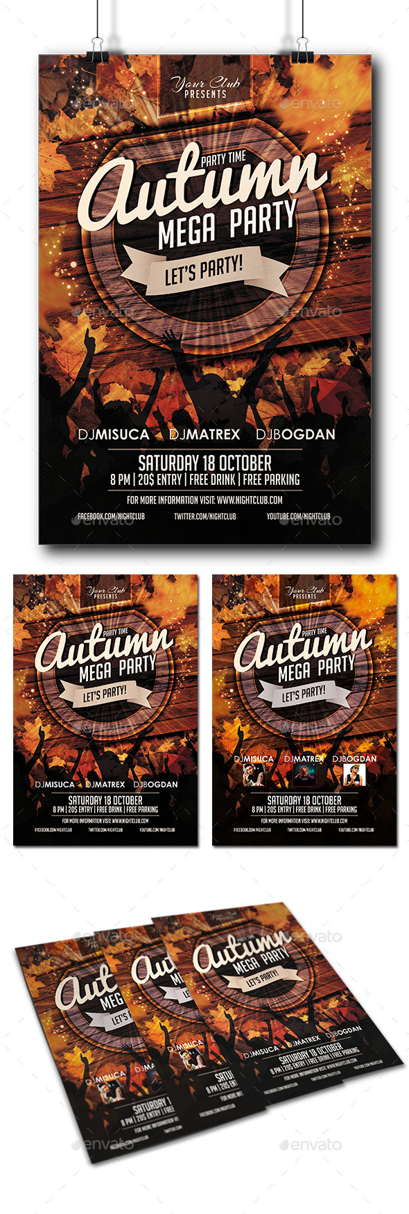 Autumn Party Flyer - Clubs & Parties Events