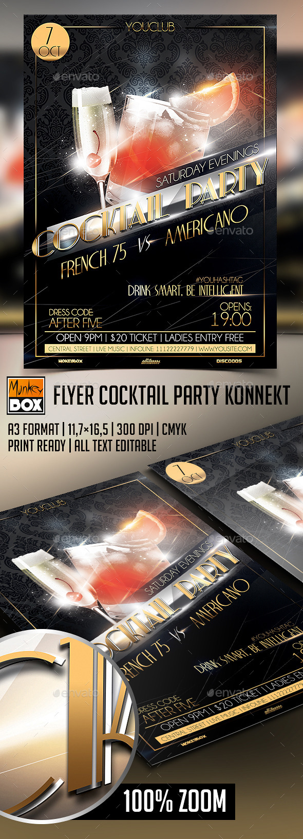 Flyer Cocktail Party - Flyers Print Templates
