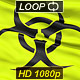 Yellow Biohazard Symbol Wavy Fabric. - VideoHive Item for Sale