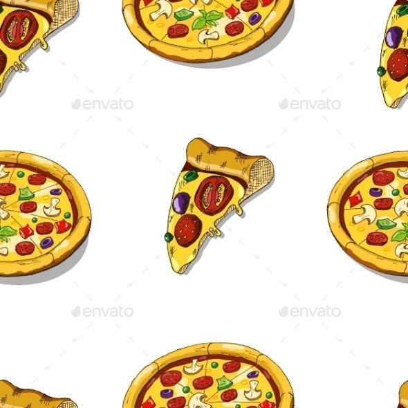 Pizza Seamless - Patterns Decorative