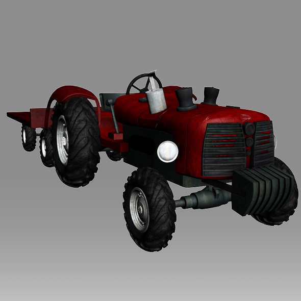 tractor - 3DOcean Item for Sale