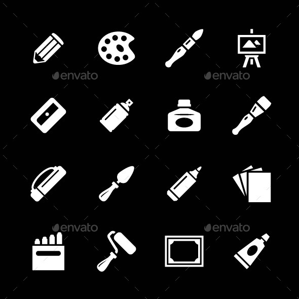 Set Icons of Art - Man-made objects Objects