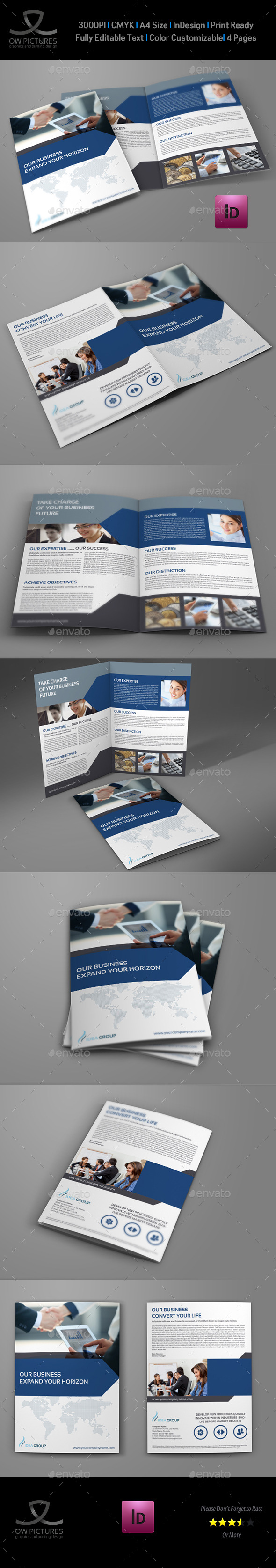 Company Brochure Bi-Fold Template Vol.33 - Corporate Brochures