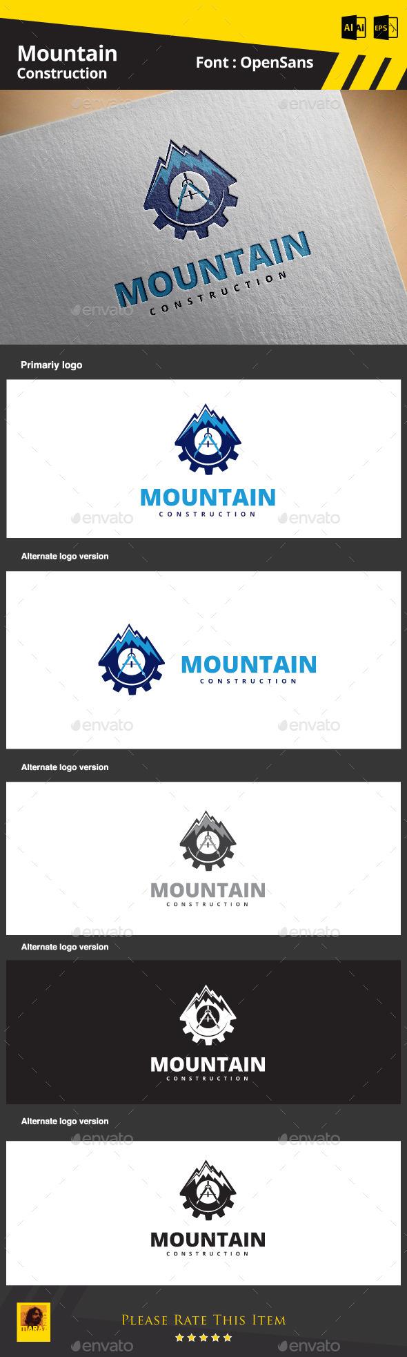 Mountain Construction - Symbols Logo Templates