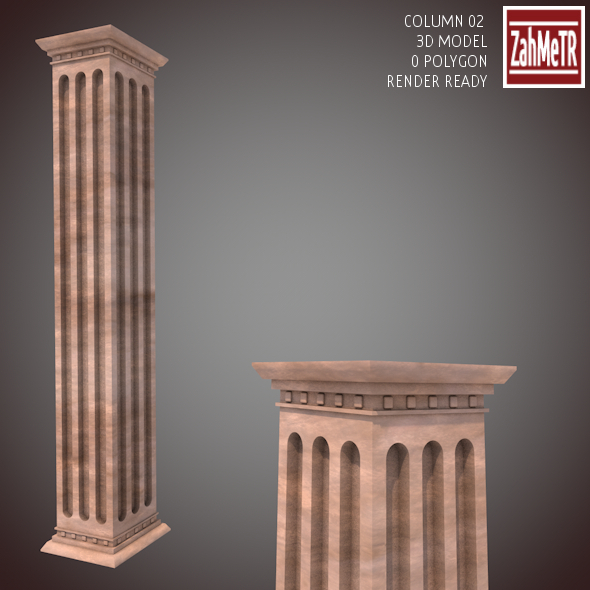 Column 02  (3D Model) - 3DOcean Item for Sale