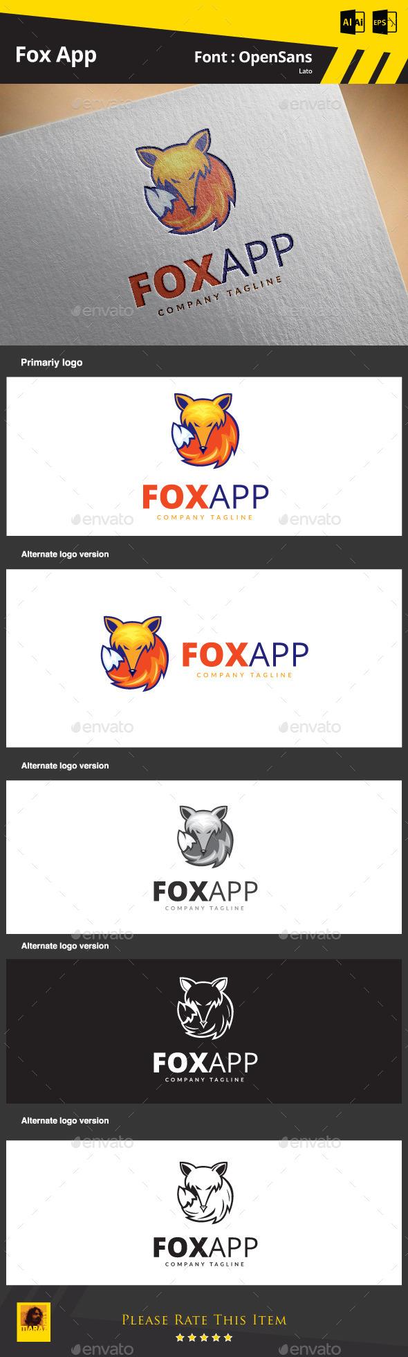 Fox App - Animals Logo Templates