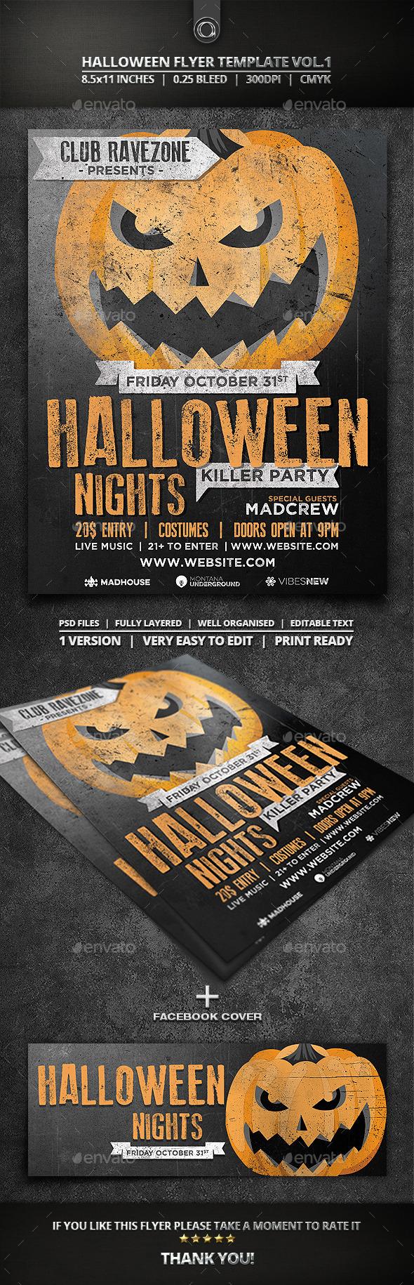 Halloween Flyer Template Vol.1 - Events Flyers