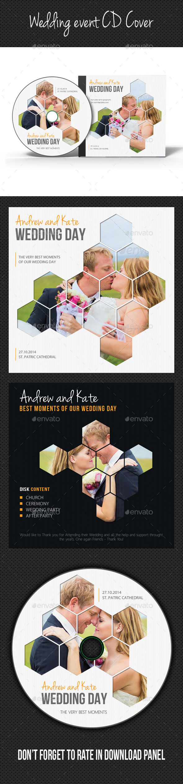 Wedding Event CD Cover V06 - CD & DVD Artwork Print Templates
